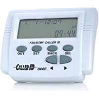2.7 Adjustable LCD Screen FSK / DTMF Caller ID Box With Calendar, White