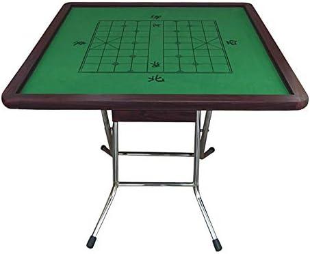 Mesa de Juego Tarjeta Plegable Mesa De Comedor Mahjong Poker Dominó Ligera Plaza China De Estilo Japonés 4 Patas De Mesa Majiang (Color : High Gloss Plating Bracket+Drawer): Amazon.es: Hogar