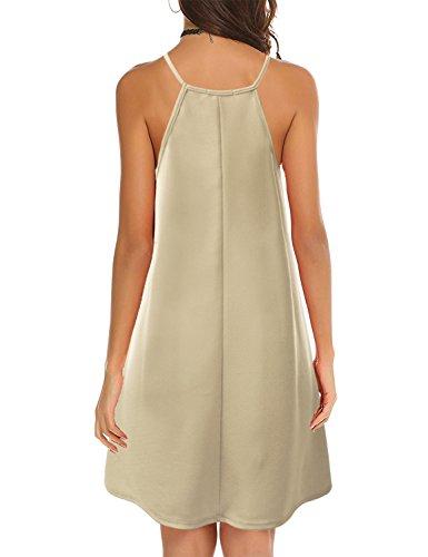 Doublju Neck Size Women Dress Swing Halter stone Neck Awdsd0758 Plus Square r6wWqFrP