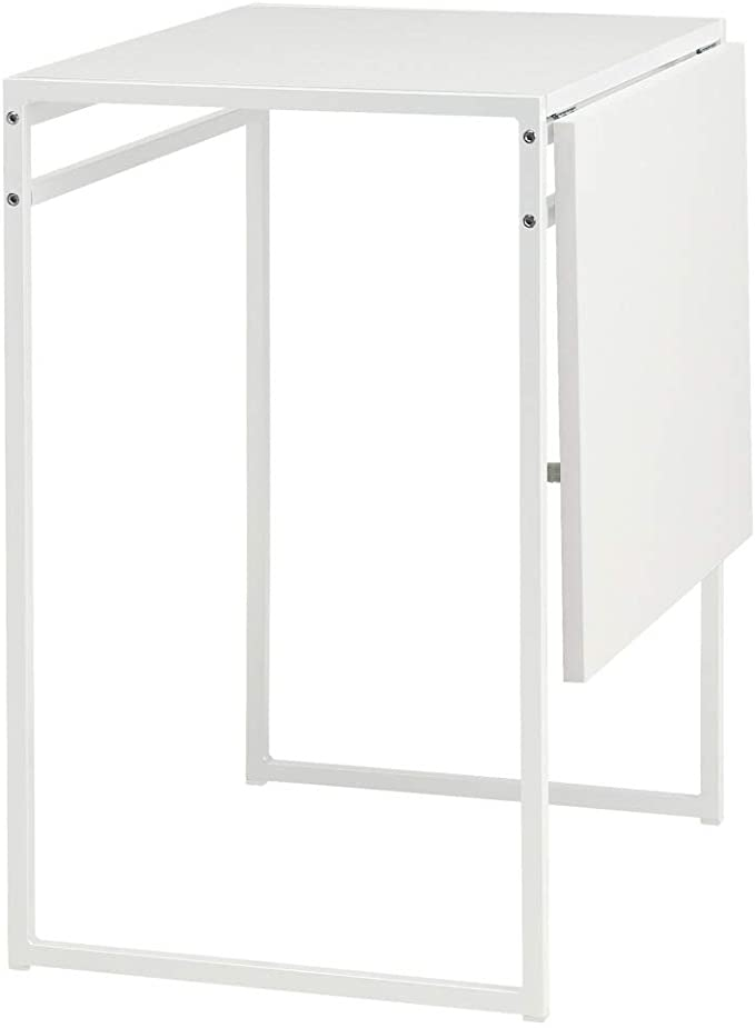 MUDDUS - Mesa de gota, color blanco: Amazon.es: Hogar