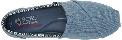 Skechers Bobs Damen Slipper Plush Powwow Blau