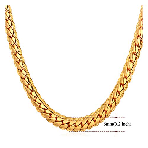 9mm Snake Chain - 14ct Gold Cuban Link Chain Necklace for Men Real 6MM 14K Karat Diamond Cut Heavy w Solid Thick Clasp US Made (22)