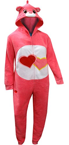 Care Bears Women's Pink Love Union Suit, Large ()