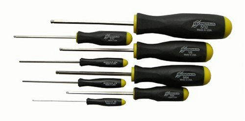 Bondhus 16632 Set of 8 Balldriver Screwdrivers with BriteGuard Finish, sizes .050-5/32-Inch