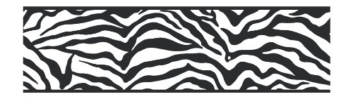York Wallcoverings Friends Forever JE3672B Girly Glam Zebra Pre-Pasted Wallpaper Border, Black