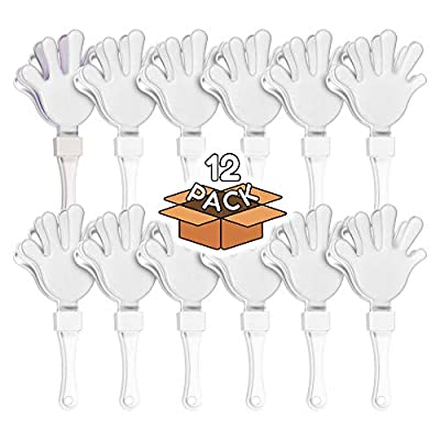 12 Pack - White Hand Clapper Noise Makers Party Favors: Kitchen & Dining