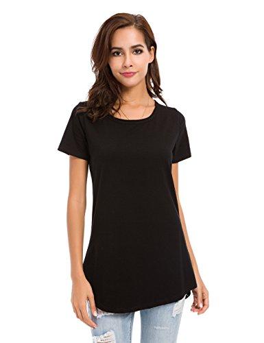 MSHING Women's Short Sleeve Tunic Tops Loose Casual T-Shirt Blouse
