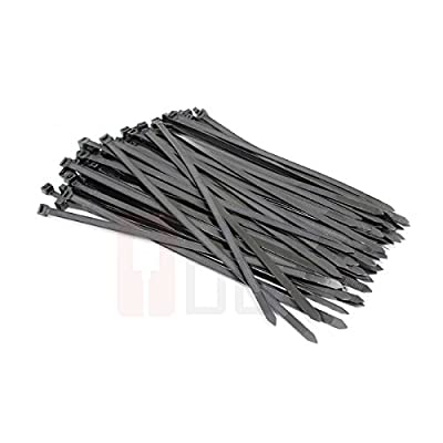 (PARENT) BuyCheapCables® Various Length & Color Heavy Duty Cable Nylon Zip Ties 120LBS Tensile Strength
