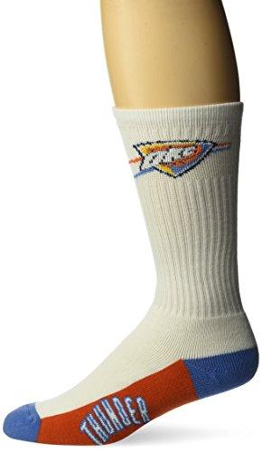 fan products of NBA Oklahoma City Thunder Men's Crew Socks, Large