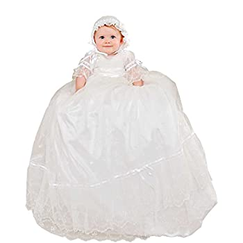 Natalia Silk and Lace Christening or Baptism Robe for Ladies, Made in USA