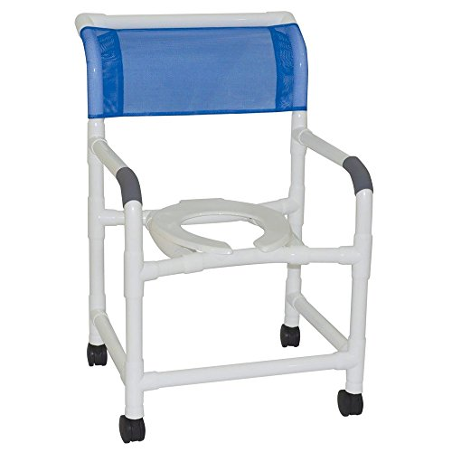 MJM 122-3TW Wide Shower Chair, 375 oz Capacity, Royal Blu...