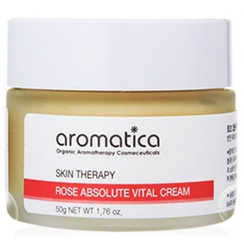 Aromatica Rose Absolute Vital Cream 1.7oz, Anti-wrinkle & Whitening (Moisturizer Rose Vital)