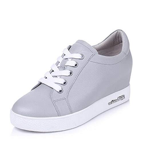 Punta Pelle Nappa Donna Chiusa nero Zhznvx estate Scarpe Tacco Comfort Sneakers Primavera Bianco In Da Gray Grigio Piatto tx7pwXqXF