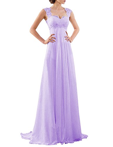 Bridesmaid Empire Gown Lace Evening Wedding Waist Women's Formal DYS Lilac Party Dress Bt5qxwvv46