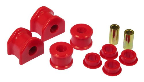 Prothane 6-1162 Red 20 mm Rear Sway Bar Bushing Kit with End Links