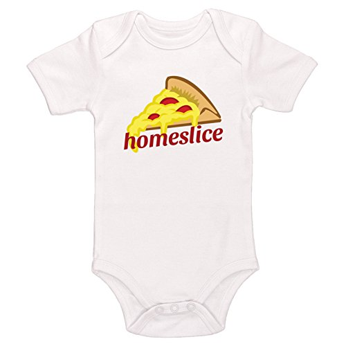Kinacle Homeslice Baby Bodysuit (12-18 Months, White)