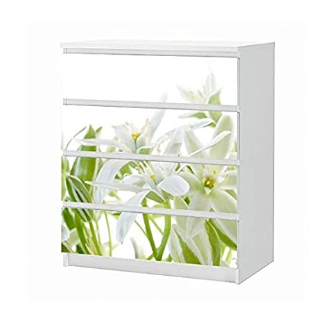 Amazonde Set Möbelaufkleber Für Ikea Kommode Malm 4 Fächer