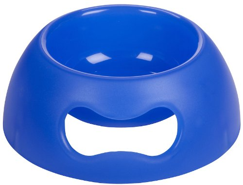Petego United Pets Pappy Pet Food and Water Bowl, Bright Blue, Holds 70 Ounces, My Pet Supplies