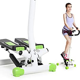 HUIYUE Household Handrail Stepper,Multi-Function Weight Loss Machine,Elliptical Machine,Mini Mute Climber Stovepipe…