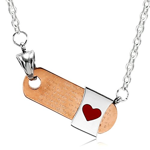 [Epinki Stainless Steel Couple Necklace Rectangle Heart Star Rose Gold] (Vintage Belly Dance Costumes For Sale)