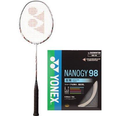 YONEX(ヨネックス) ナノレイ700FX(バドミントンラケット) ナノジー98(ガット) ラケットガットセット NR700FX-788-3U5-NBG98-024 B01M160N44