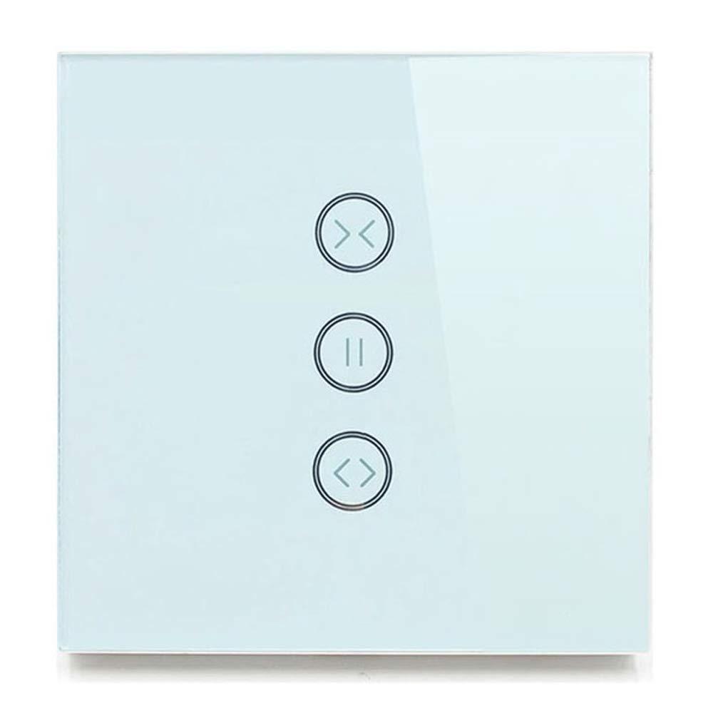 UE Tipo cortina Interruptor de pared WIFI Control a trav/és de APP o Control de voz por Alexa Google casa ca a 240/V traje para rodillo obturador