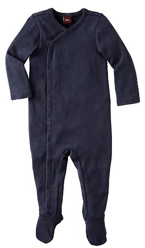 Tea Collection Baby-Boys Infant Solid Wrap One-Piece, Indigo, 0-3 Months
