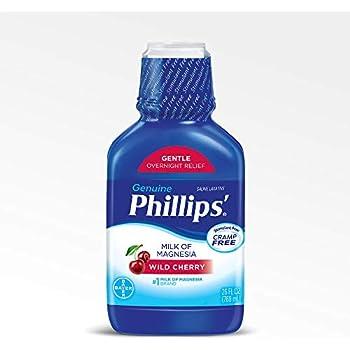 Phillips Milk of Magnesia Laxative (Wild Cherry, 26-Fluid-Ounce Bottle)