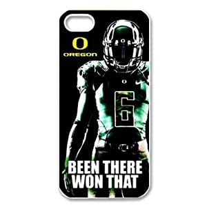 BestClassmates (TM) Design Dream 20 Sports NCAA Oregon Ducks Footballl Print White Case With Hard Shell Cover for Apple iPhone 5c