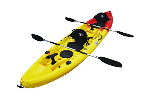 Brooklyn Kayak Company UH-TK219 Tandem Sit On Top Kayak, Red/Yellow
