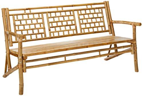 Standard Slat Black Bamboo Bench