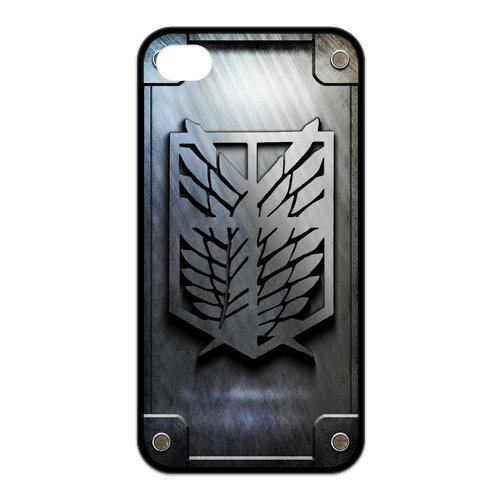 Fayruz- Attack On Titan Protective Hard TPU Rubber Cover Case for iPhone 4 / 4S Phone Cases A-i4K326