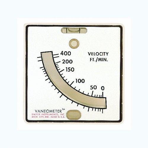 Dwyer Vaneometer Swing Vane Anemometer, 25-400 FPM by Dwyer