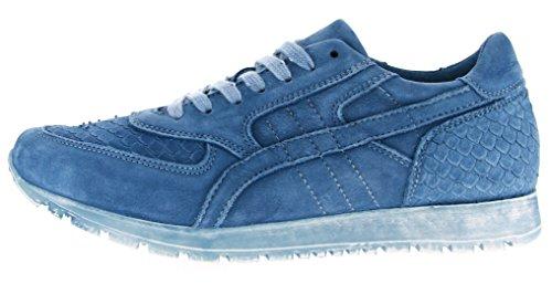 CaShott - Zapatillas de Piel para mujer azul azul