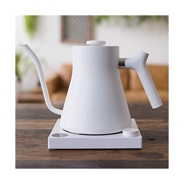 Fellow Stagg EKG Electric Pour-Over Kettle For Coffee And Tea, Matte White, Variable Temperature Control, 1200 Watt… 2