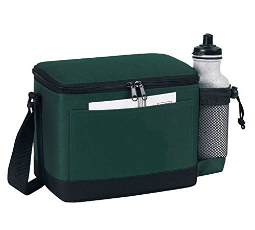 Wonderfulbag Insulated 6 Pack Cooler With Bottle Holder, CP-6906 (Forest Green)