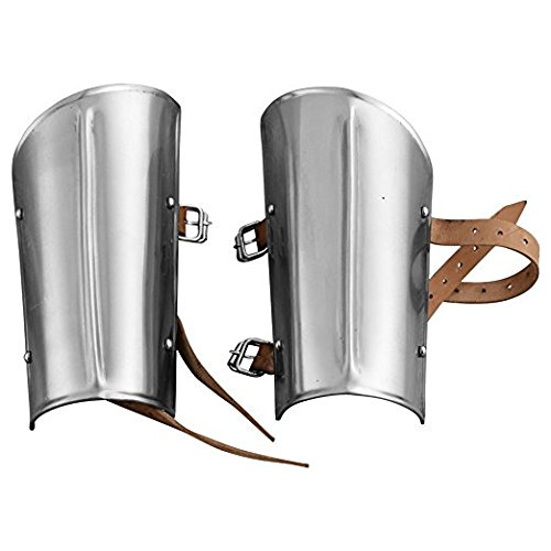 Armor Steel Arm Guards - Metallic - One Size Fit Most by THORINSTRUMENTS