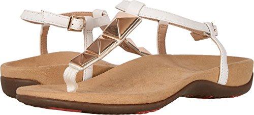 Vionic Womens Rest Nala Toepost Sandal White Size 9 Wide