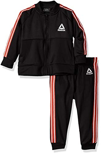 Reebok Baby Boys 2 Piece Athletic Track Suit Set, The The Warm Up Black 18M