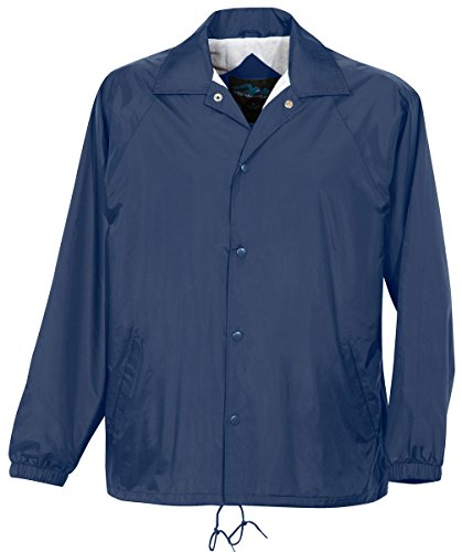 Tri-Mountain 100% Taffeta Nylon Lightweight Water-Resistant Jacket Navy Blue ()