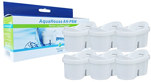 AquaHouse Universele kannen waterfilter cartridges compatibel met Brita Maxtra waterfilter – Pack van 6