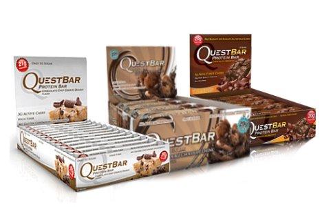 Quête Bundle: 12 Chocolate Brownie comte 25,44 oz, 12 comte Double Chocolate Chunk 25,44 oz, 12 comte Chocolate Chip Cookie Dough Barres protéinées 25,44 oz