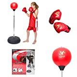 Viper Children Kids Punching Boxing Speed Ball fitness Standing Bag Tumbler Agility Stand Boy Sandbag Boxing Glove Set Sport Toy Boxing Punch Bag