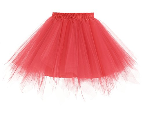 Watermelon Girl Costume (Yinyyinhs Baby Girls' Classic Dance Tulle Tutu Skirt for Dress Up & Fairy Costume Size L Watermelon (5-8 Years))