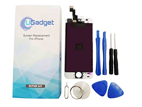 UGadget(for iPhone 5s) new white LCD Touch Screen Digitizer Assembly replacement with tool kit for iPhone 5s (4