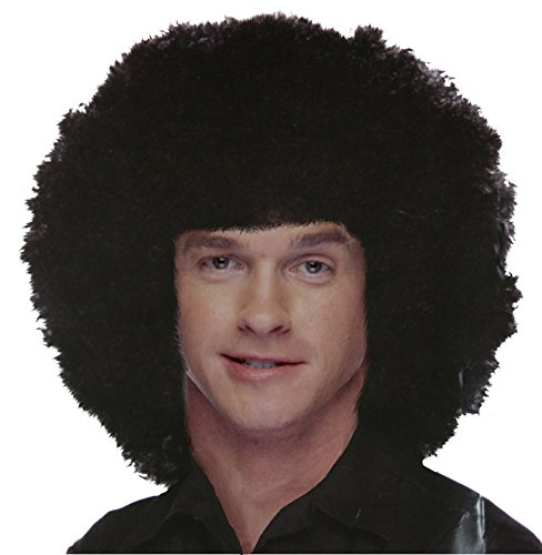 West Bay Sepia Big Afro Wig Black [314] - Motown Party Costume