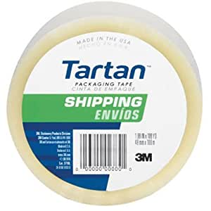 Tartan Shipping Packaging Tape, Clear , 1.88 x 54.6 Yards (3710-DC)