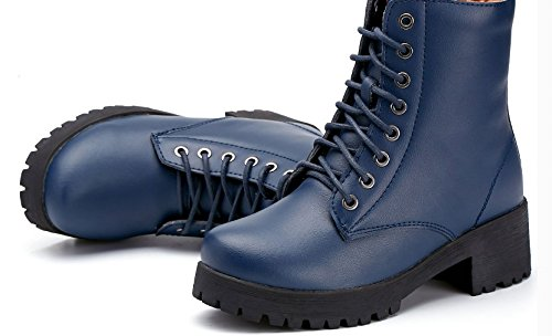 6feca7c858d Coarse with Martin winter boots Ladies leather ankle boots Wind in  thick-soled
