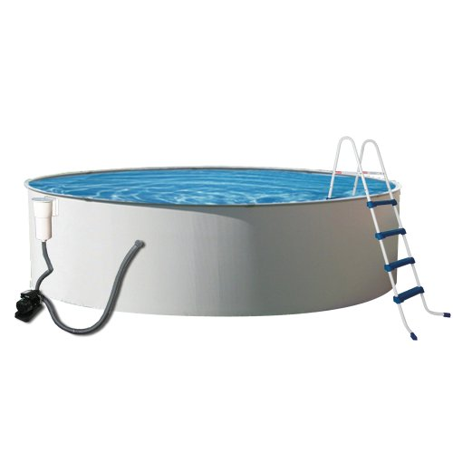 Blue Wave Presto Metal Wall Swimming Pool Package, 12-Feet Round and 52-Inch Deep