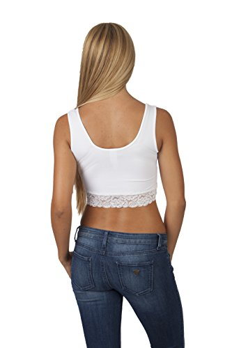fbd6225d7125c7 70%OFF Womens Sleeveless Crop Top with Lace Trim - bennigans.com.mx